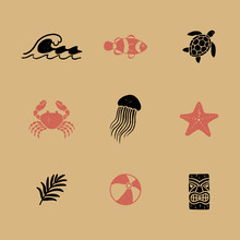 Vintage Tropical Icons