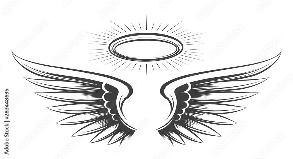 Obraz Saint wings sketch fototapeta, plakat