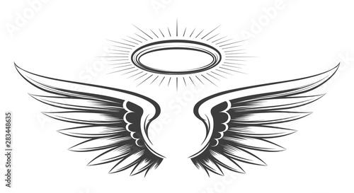 Leinwand Poster  Saint wings sketch