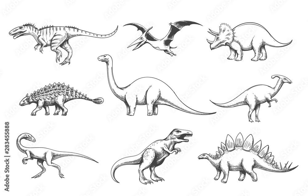 Zestaw drapieżników Dinoussaur <span>plik: #283455888   autor: vectortatu</span>