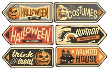 Halloween Signs Collection. Vi...