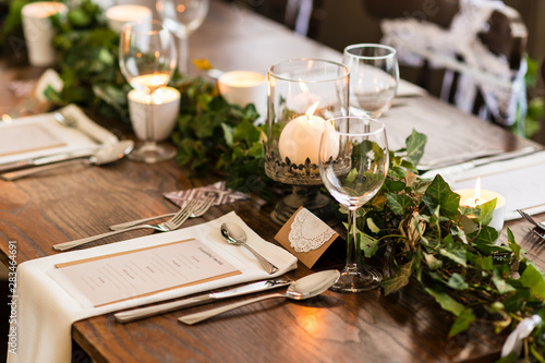 wedding table setting Tableau sur Toile