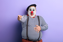 Fat Clown Showing Direction Wi...