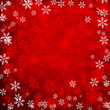 canvas print picture Red Abstract Christmas Snowflakes Background