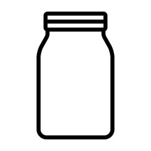 Mason Jar Glass Container Line Art Vector Icon For Food Apps And Websites