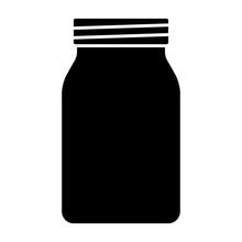 Mason Jar Glass Container Flat...