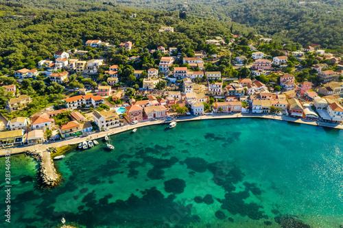 Türaufkleber Südeuropa Gaios, capital city of Paxos Island, aerial view. Greece.