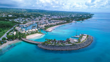 Aerial View To The Luxury Beaches, Barbadoc, Caribbean Islands