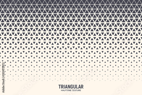 Fotomural  Triangle Vector Abstract Geometric Technology Background