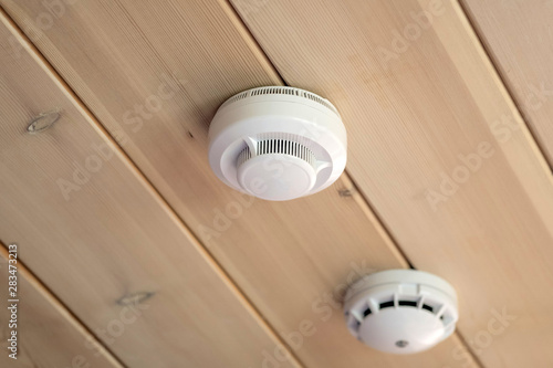 smoke and carbon monoxide detectors in a wooden house Canvas-taulu