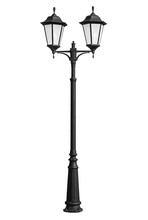 Double Street Lamp On Isolated...