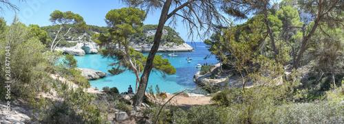 Valokuvatapetti Views of Cala Mitjana on the island of Menorca