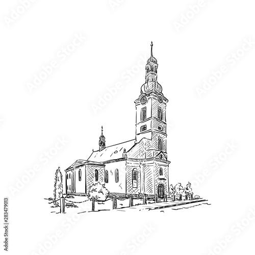 Obraz Church Dobra - fototapety do salonu