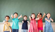 Multi-ethnic Group Of School C...