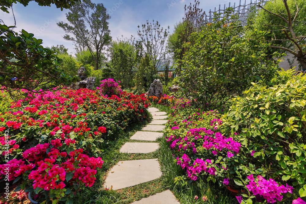 Fototapety, obrazy: Traditional Chinese City Garden Park.