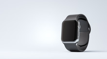 Smart Watch With Black Strap O...