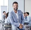 businessman office portrait corporate meeting