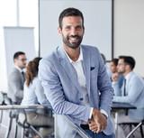 businessman office portrait corporate meeting - 283488857