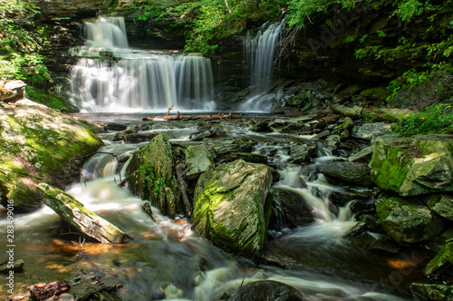 Photo sur Toile Cascades Waterfalls in the Forest