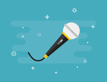 Microphone Vector Isolated Mus...