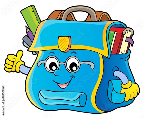 Wall Murals For Kids Happy schoolbag topic image 4
