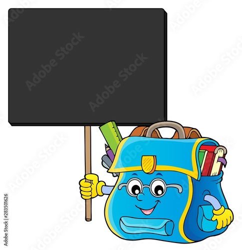 Poster de jardin Enfants Happy schoolbag topic image 7