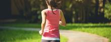 Runner Athlete Running At Park...