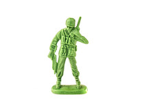 Miniature Toy Soldier On White...
