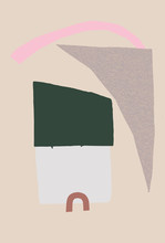 Illustration Of House By Bridge
