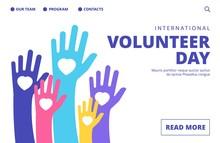 Volunteer Day Landing Page. Ve...