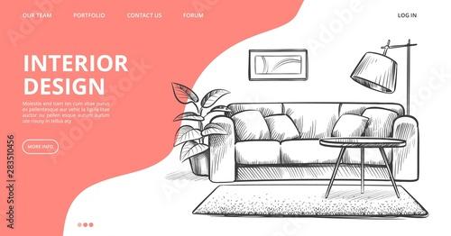 Cuadros en Lienzo  Interior design landing page
