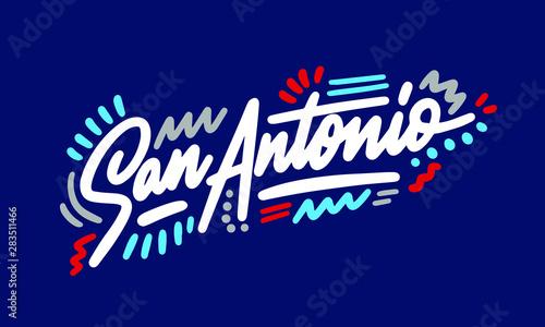 Photo San Antonio handwritten city name