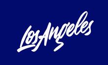 Los Angeles Handwritten City N...