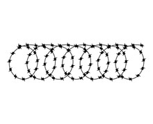 Barbed Wire Isolated. Barbwire...