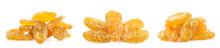 Yellow Raisins Isolated On White Background