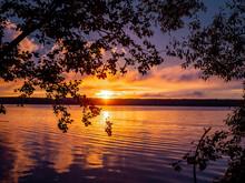 Orange Summer Sunset On The Ru...