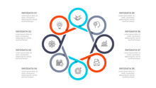 Cyclic Diagram Infographic Wit...