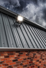 Security Light Mounted On A Fa...
