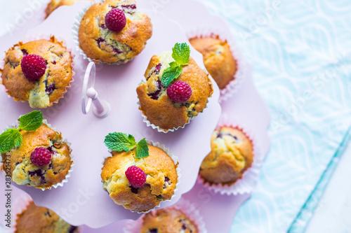 Photo  muffinki z malinami