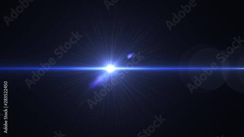 Fototapeta Lens flare light over black background. Easy to add overlay or screen filter over photos. obraz na płótnie