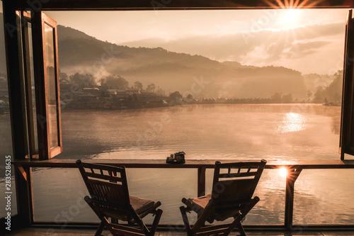 Fototapety, obrazy: Sunrise at Lee wine Rak Thai, Chinese settlement, Mae Hong Son, Thailand