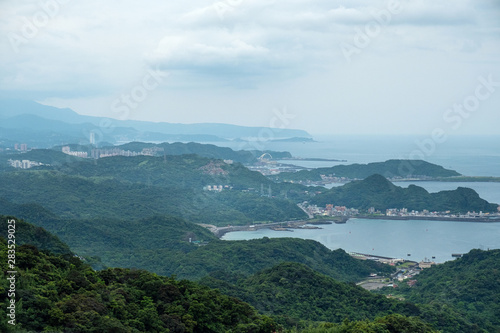Landscape view from  Jiufen, Taipei, Taiwan. Canvas Print
