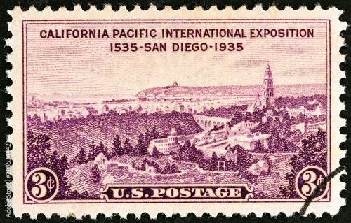 Fotografia  San Diego Exhibition Grounds, Point Loma and San Diego Bay (USA 1935)