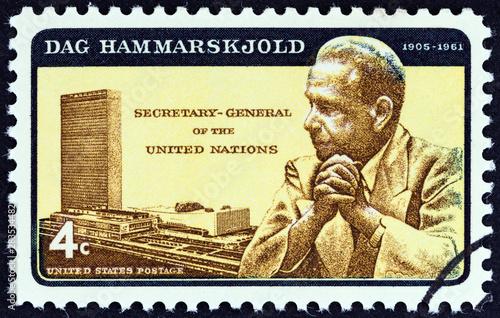 Fotomural Dag Hammarskjold and U.N. Headquarters (USA 1962)