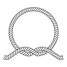 Round Rope Frame. Circle Ropes...