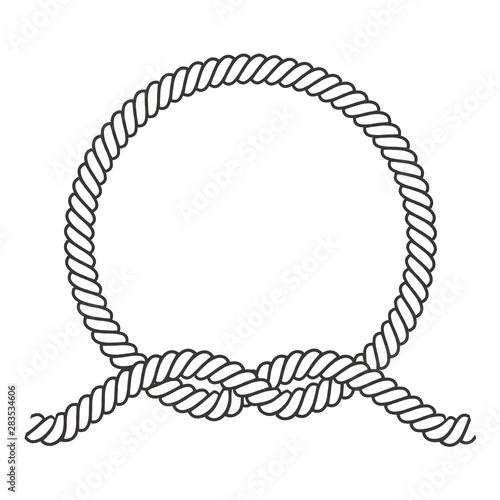 Fotografija Round rope frame