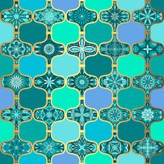 FototapetaOrnate floral seamless texture, endless pattern with vintage mandala elements.