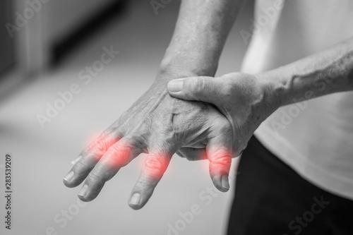 Vászonkép Tendinitis Overuse hand problems