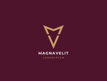 MV. Monogram Of Two Letters M&V. Luxury, Simple, Minimal And Elegant MV Logo Design. Vector Illustration Template.