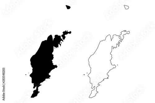 Pinturas sobre lienzo  Gotland County (Counties of Sweden, Kingdom of Sweden) map vector illustration,